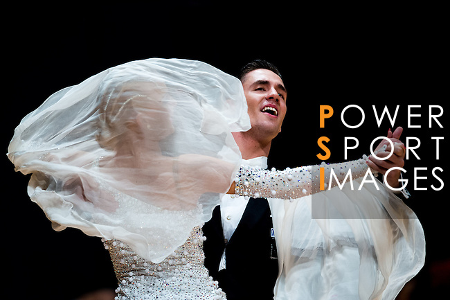 Dmitri Kolobov and Signe Busk of Denmark during the Day 2 of the WDSF GrandSlam Hong Kong 2014 on June 01, 2014 at the Queen Elizabeth Stadium Arena in Hong Kong, China. Photo by AItor Alcalde / Power Sport Images