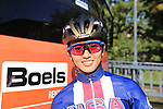 Coryn Rivera (USA) at sign on for the start of the Women Elite Road Race of the UCI World Championships 2019 running 149.4km from Bradford to Harrogate, England. 28th September 2019.<br /> Picture: Eoin Clarke | Cyclefile<br /> <br /> All photos usage must carry mandatory copyright credit (© Cyclefile | Eoin Clarke)