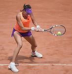 Garbine Muguruza (ESP) defeats Serena Williams 6-2, 6-2 at  Roland Garros being played at Stade Roland Garros in Paris, France on May 28, 2014