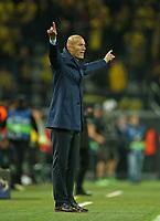26.09.2017, Football UEFA Champions League 2017/2018,  , 2. match day, Borussia Dortmund - Real Madrid, Signal-Iduna-Park Dortmund. Trainer Zinedine Zidane (Real Madrid)  *** Local Caption *** © pixathlon<br /> <br /> +++ NED + SUI out !!! +++<br /> Contact: +49-40-22 63 02 60 , info@pixathlon.de