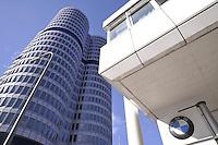 - Germany, the BMW car factory headquarters in Munich....- Germania, la sede della fabbrica di automobili BMW a Monaco di Baviera