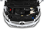 Car stock 2020 Mercedes Benz V-class Avantgarde 5 Door Mini Van engine high angle detail view