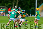 Lixnaws Brendan Brosnan breaks free from the Ballyduff tight defence in the NK Hurling Championship game on Monday.