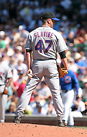New York Mets pitcher Tom Glavine #47 during a game against the Chicago Cubs at Wrigley Field on July 15, 2006 in Chicago, Illinois.  (Mike Janes/Four Seam Images)