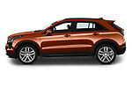 Car Driver side profile view of a 2019 Cadillac XT4 Sport 5 Door SUV Side View