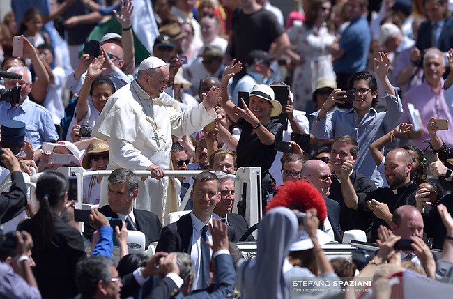 Pope Francis during the solemn mass to celebrate the feast of Saint Peter and Saint Paul with the new Cardinals and the new Metropolitan Archbishops on June 29, 2018 in Saint Peter's square at the Vatican.