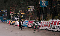 Wout van Aert (BEL/Jumbo-Visma) wins the Men's Race at the X2O Herentals Cross 2020 (BEL)<br /> <br /> ©kramon