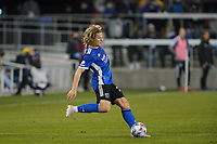 SAN JOSE, CA - MAY 1: Florian Jungwirth #23 of the San Jose Earthquakes during a game between D.C. United and San Jose Earthquakes at PayPal Park on May 1, 2021 in San Jose, California.