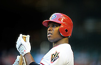 Jun. 2, 2011; Phoenix, AZ, USA; Arizona Diamondbacks outfielder Justin Upton against the Washington Nationals at Chase Field. Mandatory Credit: Mark J. Rebilas-