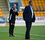 St Johnstone v Stirling Albion…30.07.16  McDiarmid Park. Betfred Cup<br /> Stirling boss Stuart McLaren shouts <br /> Picture by Graeme Hart.<br /> Copyright Perthshire Picture Agency<br /> Tel: 01738 623350  Mobile: 07990 594431