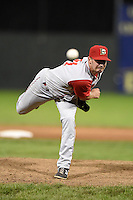 Brooklyn Cyclones pitcher Brandon Welch (21) delivers a pitch during a game against the Batavia Muckdogs on August 9, 2014 at Dwyer Stadium in Batavia, New York.  Batavia defeated Brooklyn 4-2.  (Mike Janes/Four Seam Images)