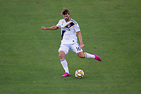CARSON, CA - SEPTEMBER 29: Jorgen Skjelvik #16 of the Los Angeles Galaxy crosses a ball during a game between Vancouver Whitecaps and Los Angeles Galaxy at Dignity Health Sports Park on September 29, 2019 in Carson, California.