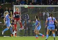 Boyds, MD - Friday Sept. 30, 2016: Julie Johnston, Tori Huster during a National Women's Soccer League (NWSL) semi-finals match between the Washington Spirit and the Chicago Red Stars at Maureen Hendricks Field, Maryland SoccerPlex. The Washington Spirit won 2-1 in overtime.