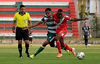 TULUA-COLOMBIA, 03-10-2020: Cortulua y Valledupar F.C., durante partido por la fecha 10 del Torneo BetPlay DIMAYOR I 2020 en el estadio Doce de Octubre de la ciudad de Tulua. / Cortulua and Valledupar F.C., during a match for the 10th date of the BetPlay DIMAYOR I 2020 tournament at the Doce de Octubre de stadium in Tulua city. / Photo: VizzorImage / Juan Jose Horta / Cont.
