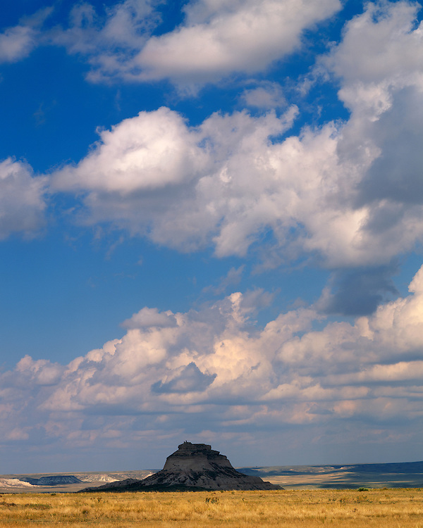 Cloud formations over the east Pawnee Butte; Pawnee National Grassland. CO