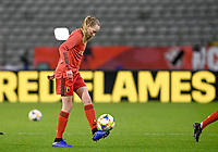 Belgian Feli Delacauw (5) pictured during a friendly female soccer game between the national teams of Belgium , called the Red Flames and The Netherlands , called the Oranje Leeuwinnen in a pre - bid tournament called Three Nations One Goal with the national teams from Belgium , The Netherlands and Germany towards a bid for the hosting of the 2027 FIFA Women's World Cup , on Thursday 18 th of February 2021  in Brussels , Belgium . PHOTO SPORTPIX.BE   SPP   DAVID CATRY