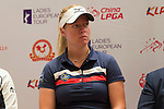 Ko Jin Young (left) and Nicole Broch Larsen, attend the press conference at the beginning of World Ladies Championship 2016 on 09 March 2016 at Mission Hills Olazabal Golf Course in Dongguan, China. Photo by Victor Fraile / Power Sport Images
