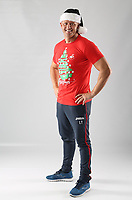 Pictured: Lee Trundle<br /> Swansea City FC and Ospreys RFC Christmas photo shoot at the Fairwood Trainining Ground, near Swansea, Wales, UK. 17 October 2017