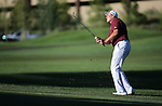 Former NFL player Mark Rypien plays in the final round of the American Century Championship at Edgewood Tahoe Golf Course in Stateline, Nev., on Sunday, July 19, 2015. <br /> Photo by Cathleen Allison