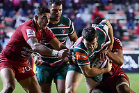 26th September 2020; Toulon, France; European Challenge Cup Rugby, semi-final; RC Toulon versus Leicester Tigers;  George Ford (Leicester) is tackled