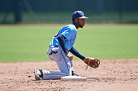 Tampa Bay Rays Gionti Turner (80) during a Minor League Extended Spring Training game against the Atlanta Braves on April 15, 2019 at CoolToday Park Training Complex in North Port, Florida.  (Mike Janes/Four Seam Images)