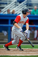 Brooklyn Cyclones outfielder Brandon Nimmo #9 during a game against the Batavia Muckdogs at Dwyer Stadium on July 26, 2012 in Batavia, New York.  Brooklyn defeated Batavia 7-1.  (Mike Janes/Four Seam Images)