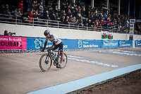 Defending Champion Peter SAGAN (SVN/BORA-Hansgrohe) crossing the finish line in 5th position<br /> <br /> 117th Paris-Roubaix 2019 (1.UWT)<br /> One day race from Compiègne to Roubaix (FRA/257km)<br /> <br /> ©kramon