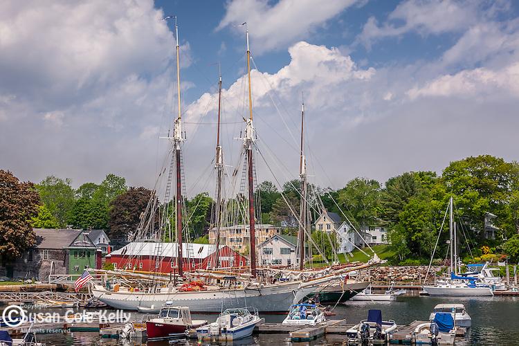 Windjammers in Camden Harbor, Camden, ME, USA