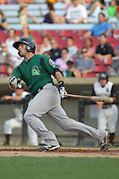 Beloit Snappers catcher Matt Koch #21 hits a home run during a game against the Kane County Cougars at Fifth Third Bank Ballpark on June 26, 2012 in Geneva, Illinois. Beloit defeated Kane County 8-0. (Brace Hemmelgarn/Four Seam Images)