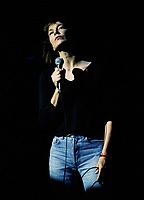 Montreal (Qc) CANADA - 1994 File Photo - - Jane Birkin sing at Montreal's Francofolies.