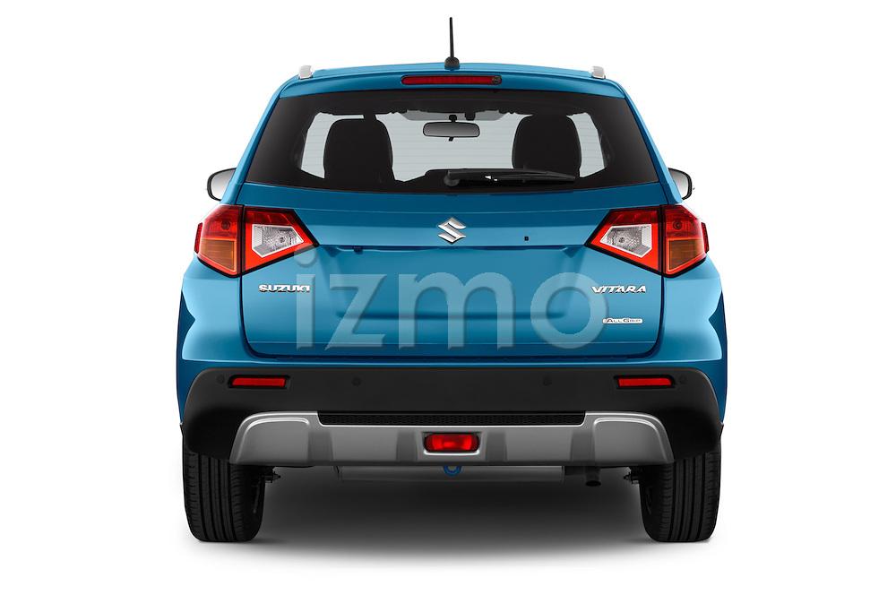 Straight rear view of a 2015 Suzuki Vitara Lux Extra 5 Door SUV stock images