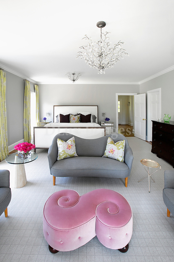 classic bedroom with sofa