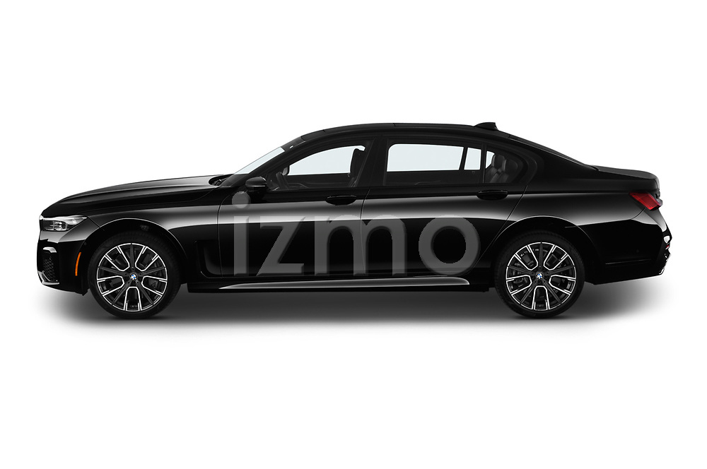 Car driver side profile view of a 2020 BMW 7 Series M Sport 4 Door Sedan