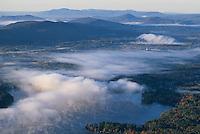 lake,  Berkshire aerial view, Lenox, MA