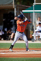 GCL Astros Alfredo Angarita (2) at bat during a Gulf Coast League game against the GCL Marlins on August 8, 2019 at the Roger Dean Chevrolet Stadium Complex in Jupiter, Florida.  GCL Astros defeated GCL Marlins 4-2.  (Mike Janes/Four Seam Images)