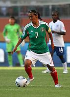 Wolfsburg , 270611 , FIFA / Frauen Weltmeisterschaft 2011 / Womens Worldcup 2011 , Gruppe B  ,  ..England - Mexico ..Juana Lopez (Mexico) ..Foto:Karina Hessland ..