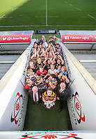 SCHOOLS CUP DRAW 2016 | Monday 16th November 2015<br /> <br /> Ulster Schools Cup draw at Kingspan Stadium, Ravenhill Park, Belfast, Northern Ireland.<br /> <br /> Photo credit: John Dickson / DICKSONDIGITAL