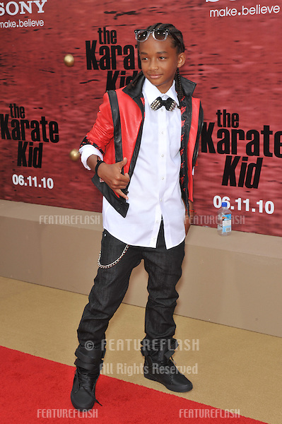 """Jaden Smith at the Los Angeles premiere of his movie """"The Karate Kid"""" at Mann Village Theatre, Westwood..June 7, 2010  Los Angeles, CA.Picture: Paul Smith / Featureflash"""