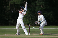 Ben Allison hits 4 runs for Brentwood during Brentwood CC vs Wanstead and Snaresbrook CC, Essex Cricket League Cricket at The Old County Ground on 12th September 2020