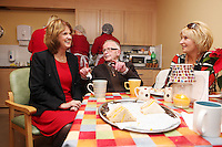 """NO REPRO FEE. 21/11/2011. New Alzheimer Day Centre at full capacity as demand for Alzheimer services grow. Minister for Social Protection Joan Burton T.D. officially opened """"Failte Day Centre"""", which will provide dementia-specific, person-centred care to people with dementia and their carers in Hartstown, Clonsilla. The Minister is pictured with cient Eddie O Hahony and daughter Edel Kavanagh from the Navan Rd. The Alzheimer Society of Ireland, in partnership with the HSE, is currently operating 3 days a week caring for clients living with dementia who live in Castleknock. Picture James Horan/Collins Photos"""