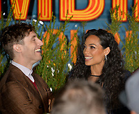 """LOS ANGELES, USA. October 11, 2019: Thomas Middleditch & Rosario Dawson at the premiere of """"Zombieland: Double Tap"""" at the Regency Village Theatre.<br /> Picture: Paul Smith/Featureflash"""
