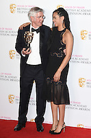 Tom Courteny and Georgina Campbell<br /> in the winners room at the 2016 BAFTA TV Awards, Royal Festival Hall, London<br /> <br /> <br /> ©Ash Knotek  D3115 8/05/2016