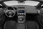 Stock photo of straight dashboard view of 2021 Jaguar F-Type - 2 Door Convertible Dashboard