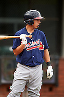 Mississippi Braves shortstop Daniel Castro (20) during practice before a game against the Mobile BayBears on April 28, 2015 at Hank Aaron Stadium in Mobile, Alabama.  The game was suspended after the top of the second inning with Mobile leading 3-0, the BayBears went on to defeat the Braves 6-1 the following day.  (Mike Janes/Four Seam Images)