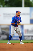 Midland RockHounds shortstop Franklin Barreto (10) during a game against the San Antonio Missions on April 21, 2016 at Nelson W. Wolff Municipal Stadium in San Antonio, Texas.  Midland defeated San Antonio 9-2.  (Mike Janes/Four Seam Images)