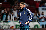 Argentina's Leo Messi warms during International Adidas Cup match between Argentina and Venezuela at Wanda Metropolitano Stadium in Madrid, Spain. March 22, 2019. (ALTERPHOTOS/A. Perez Meca)