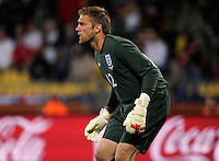 England goalkeeper Robert Green. USA tied England 1-1 in the 2010 FIFA World Cup at Royal Bafokeng Stadium in Rustenburg, South Africa on June 12, 2010.