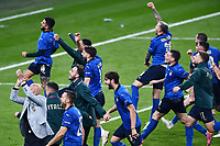6th July 2021; Wembley Stadium, London, England; Euro 2020 Football Championships semi-final, Italy versus Spain; Italian team celebrate their win