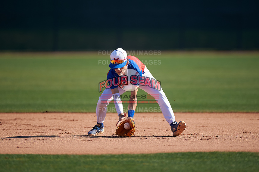 Jett Manuelito during the Under Armour All-America Tournament powered by Baseball Factory on January 18, 2020 at Sloan Park in Mesa, Arizona.  (Zachary Lucy/Four Seam Images)