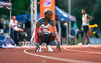 5th June 2021; Birmingham University Athletics Track, Birmingham, Midlands, England; European 10000 Metre Finals, British Olympic Trials 10000 Metre; Mo Farah is beaten by Marc Scott and fails to run the Olympic Qualifying time
